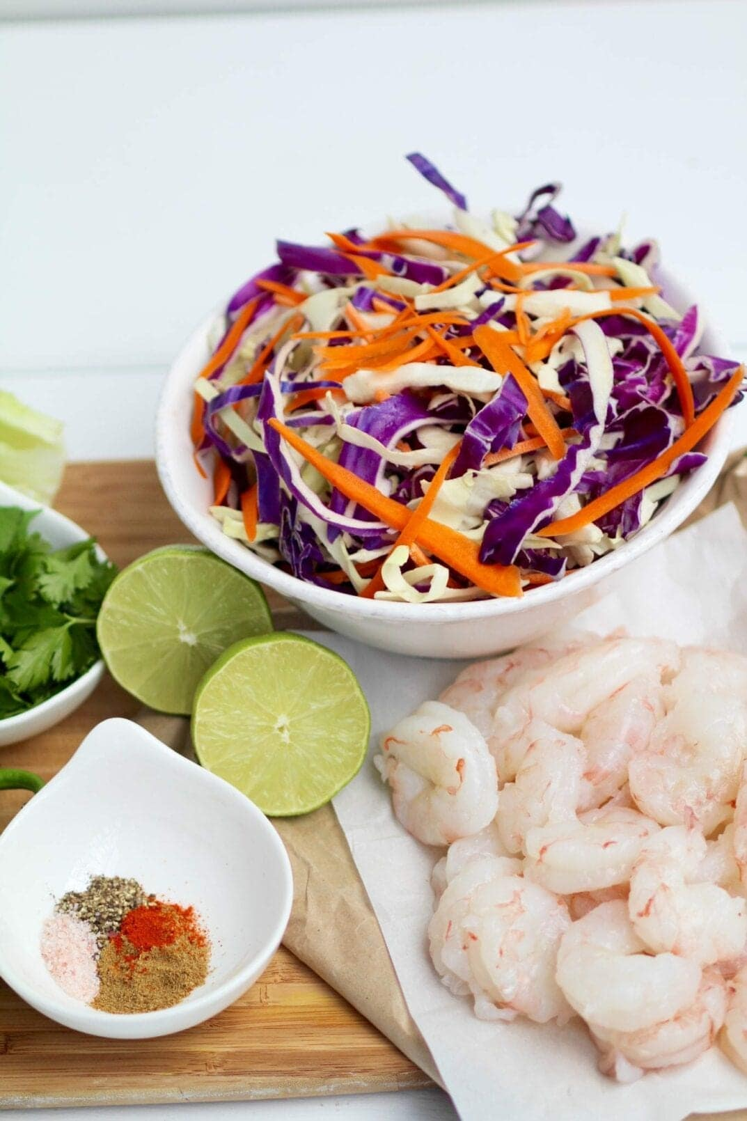 spicy, cilantro lime shrimp tacos ingredients