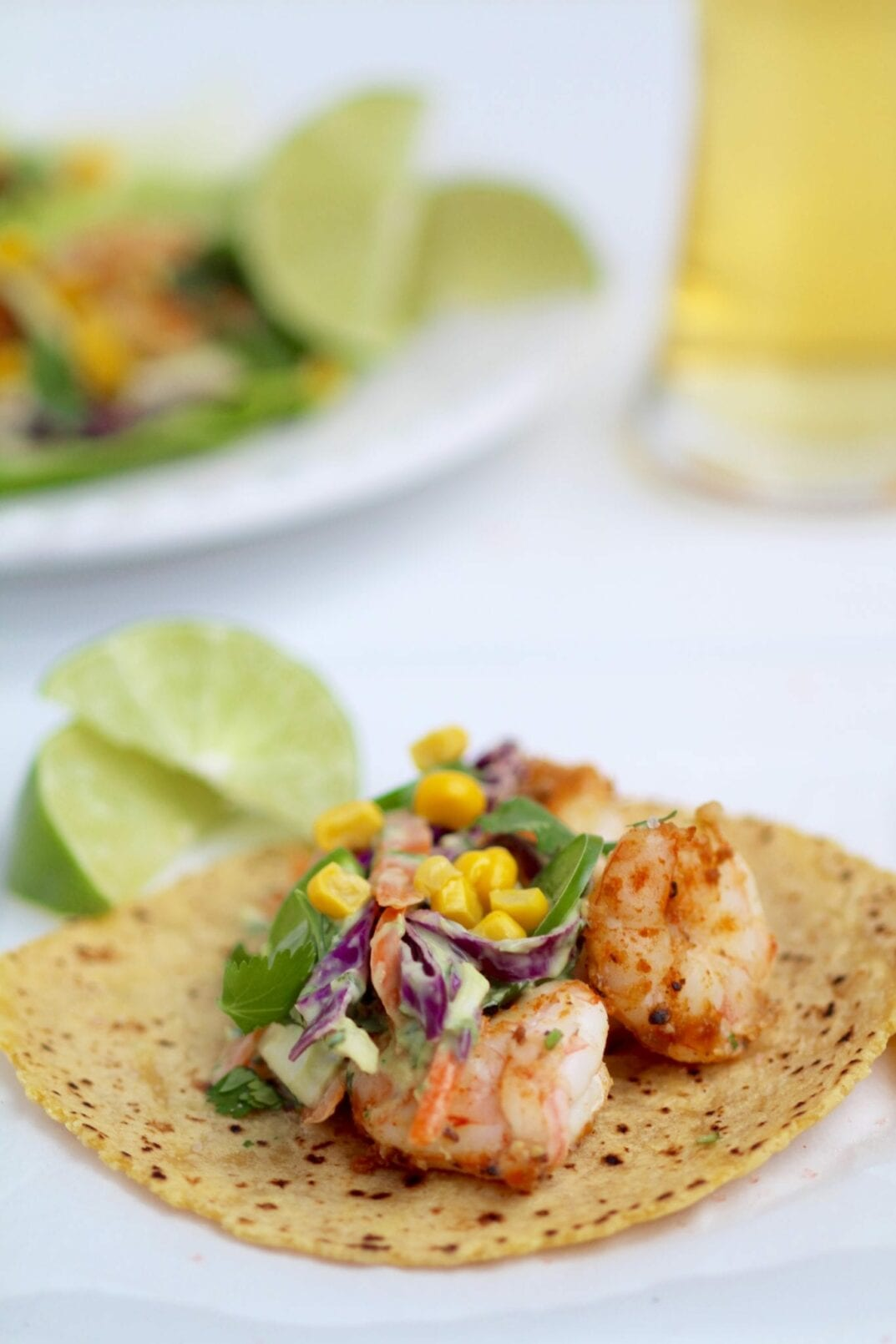 spicy, cilantro lime shrimp tacos
