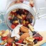 healthy superfood trail mix {crunchy, chewy, sweet, and satisfying}