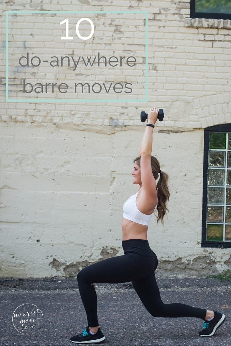 barre moves you can do without a barre | www.nourishmovelove.com