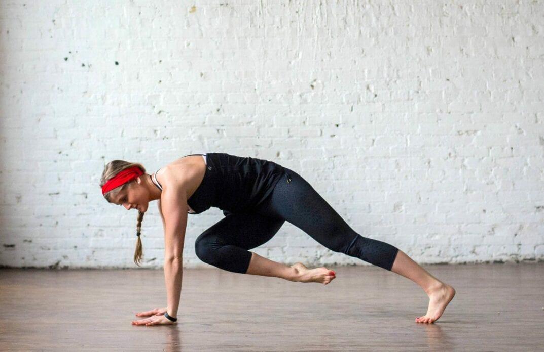 high plank cross body knee pulls
