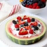 easy watermelon + berry fruit pizza {the dessert you can eat for breakfast}