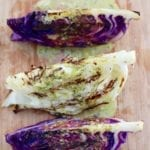 Grilled Cabbage Steaks + Spicy Cilantro-Lime Dressing
