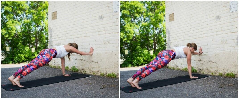 plank + wall push