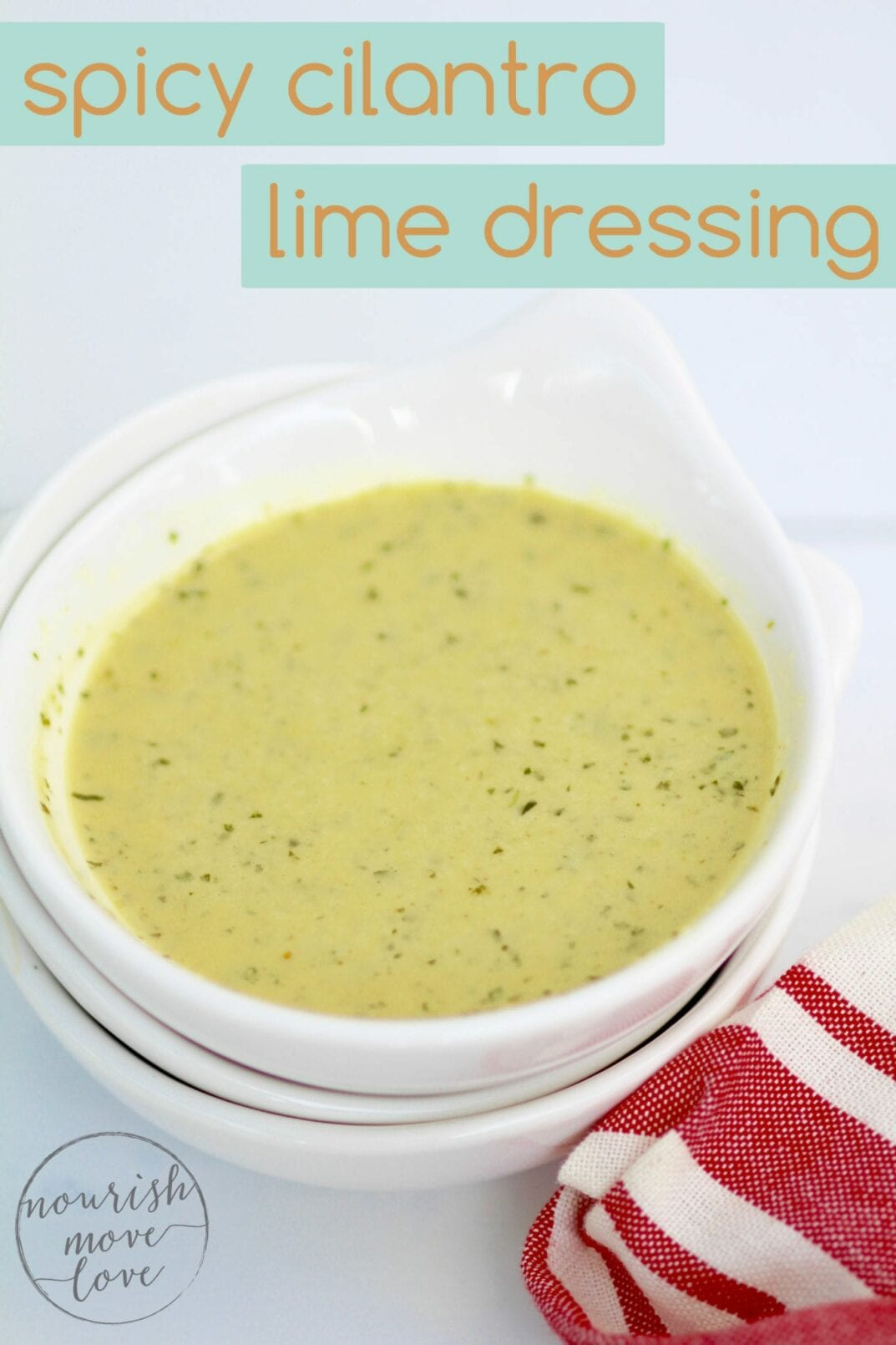 spicy cilantro-lime dressing | it has a cool, citrusy lime flavor paired with a little cayenne kick. | www.nourishmovelove.com