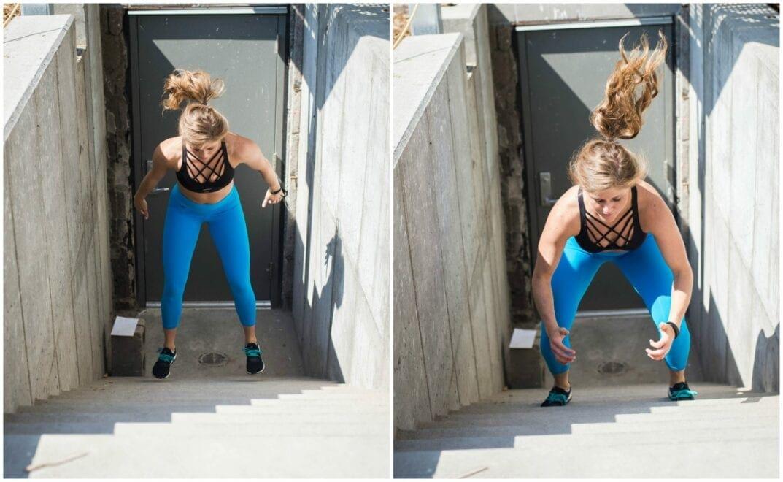 stair squat jumps