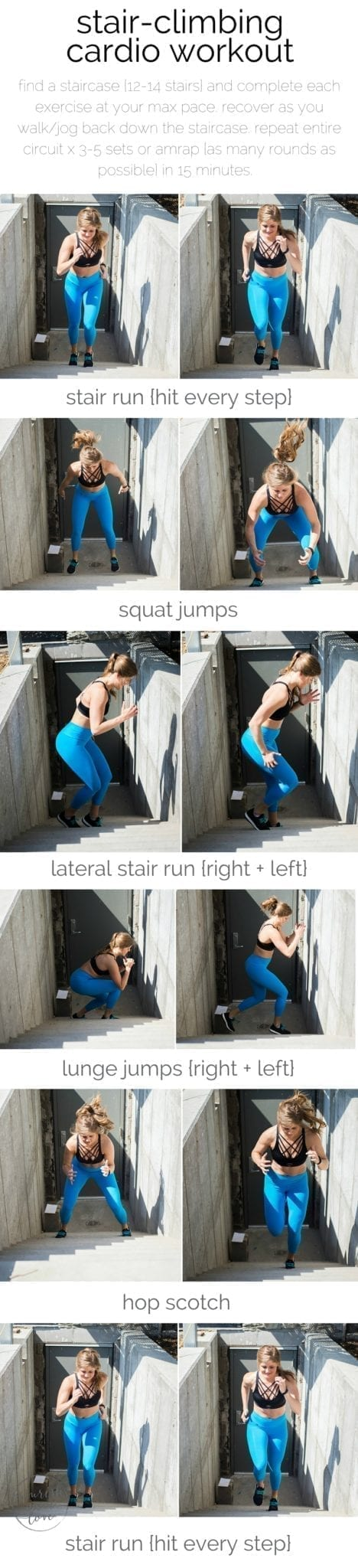 stair-climbing cardio workout | stair workout | outdoor workout | Butt workout | lower body workout