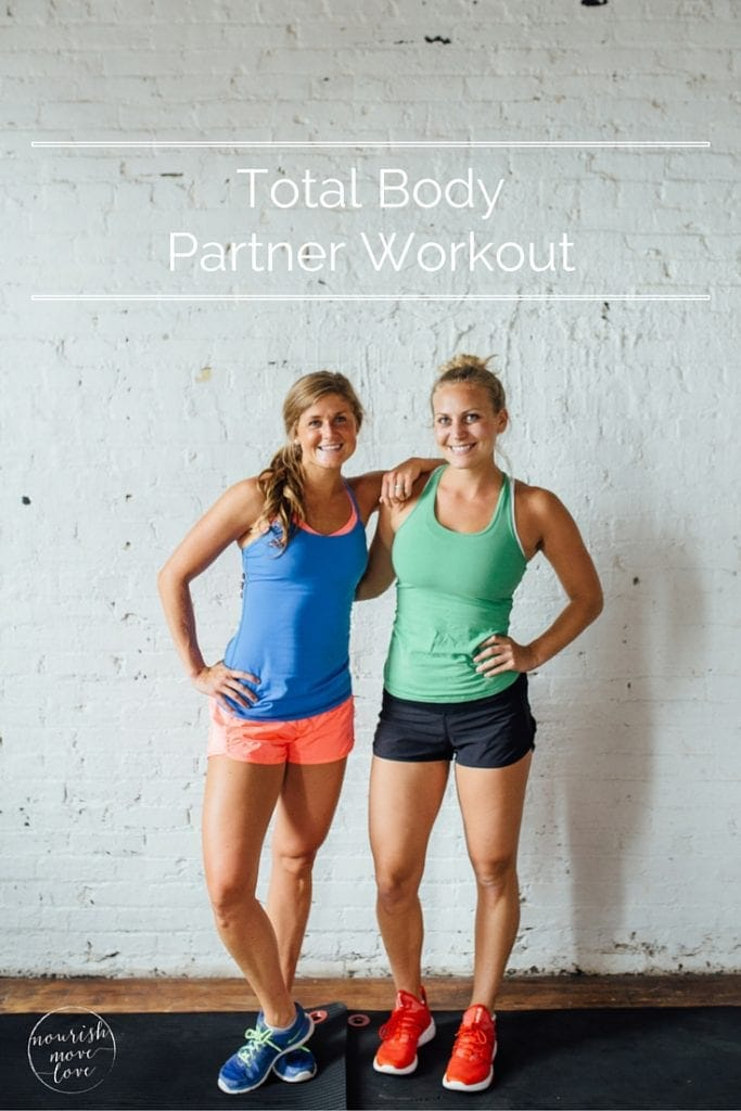 bodyweight partner workout | www.nourishmovelove.com