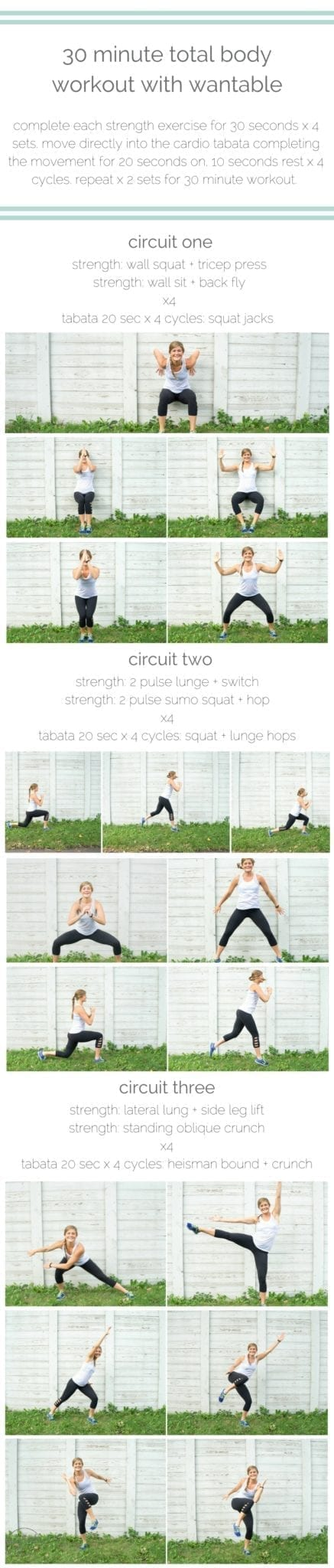 want that bod: 30 minute total body workout with wantable | tone your bod and look good doing it with this equipment-free, 30 minute strength-and-cardio circuit brought to you by wantable fitness. | www.nourishmovelove.com
