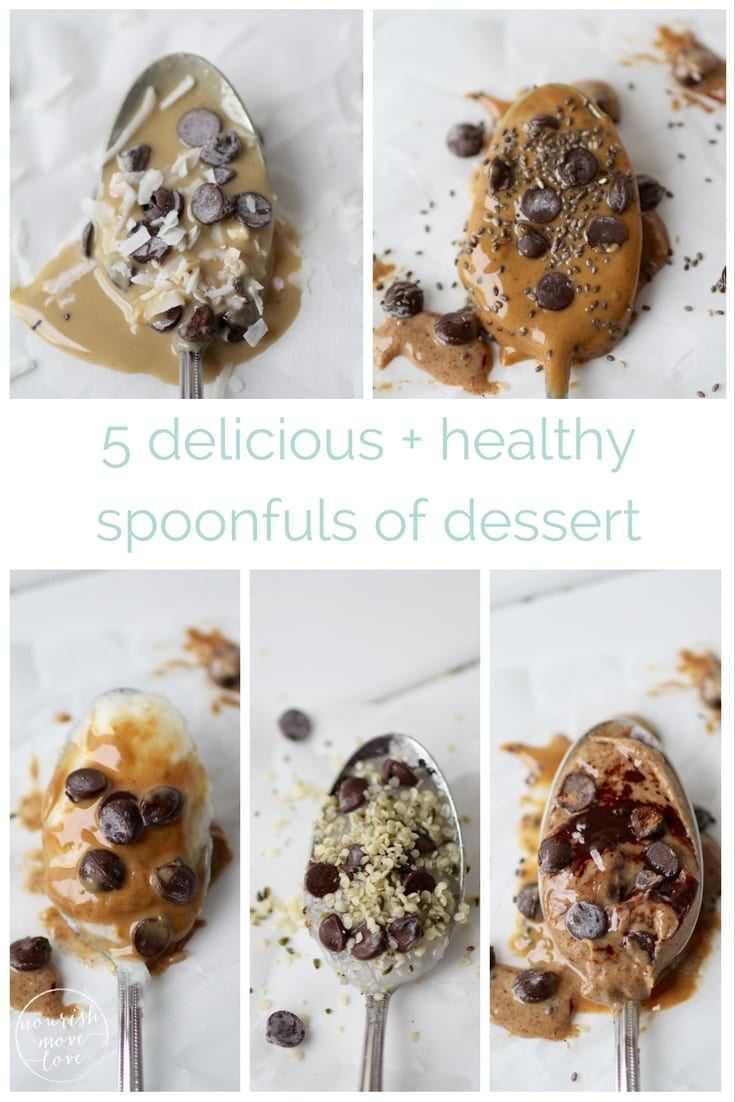 5 delicious and healthy spoonfuls of dessert | 5 delicious and healthy ways to satisfy that post-meal sweet tooth, because sometimes all you need is just one spoonful of dessert! | www.nourishmovelove.com