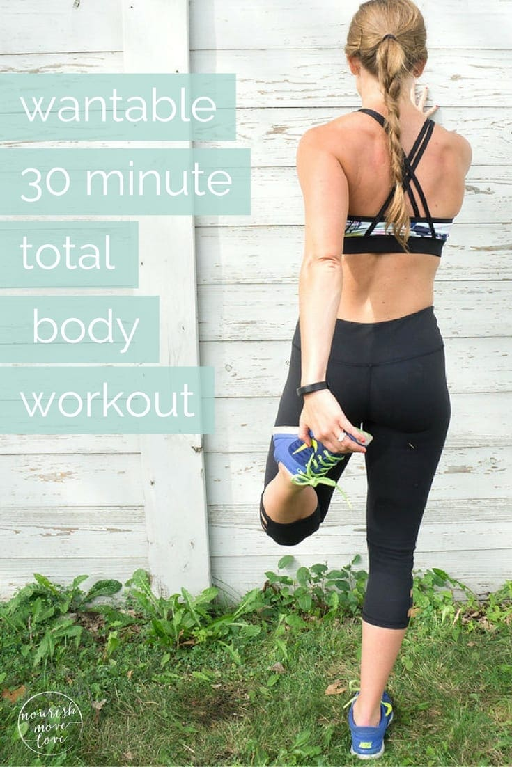 want that bod: 30 minute total body workout with wantable | www.nourishmovelove.com