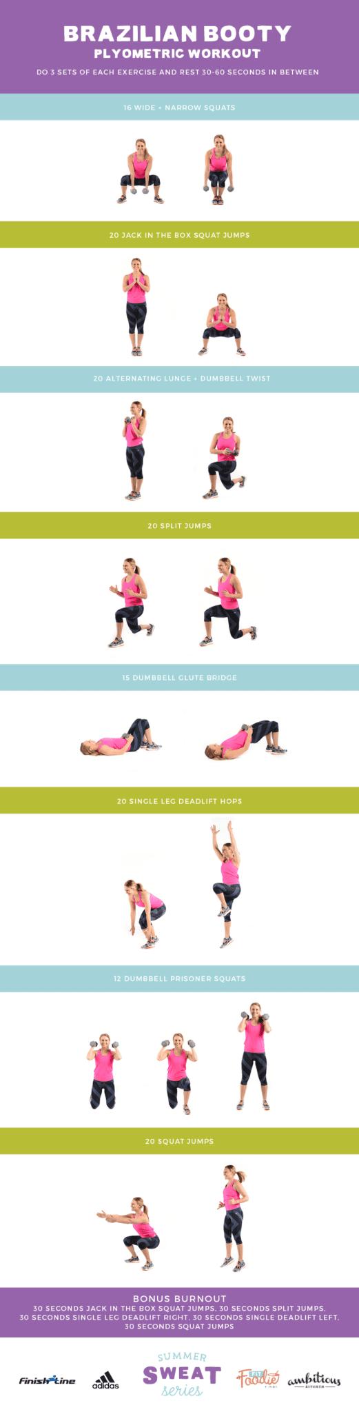 Brazilian Booty Plyometric Workout | Summer Sweat Series