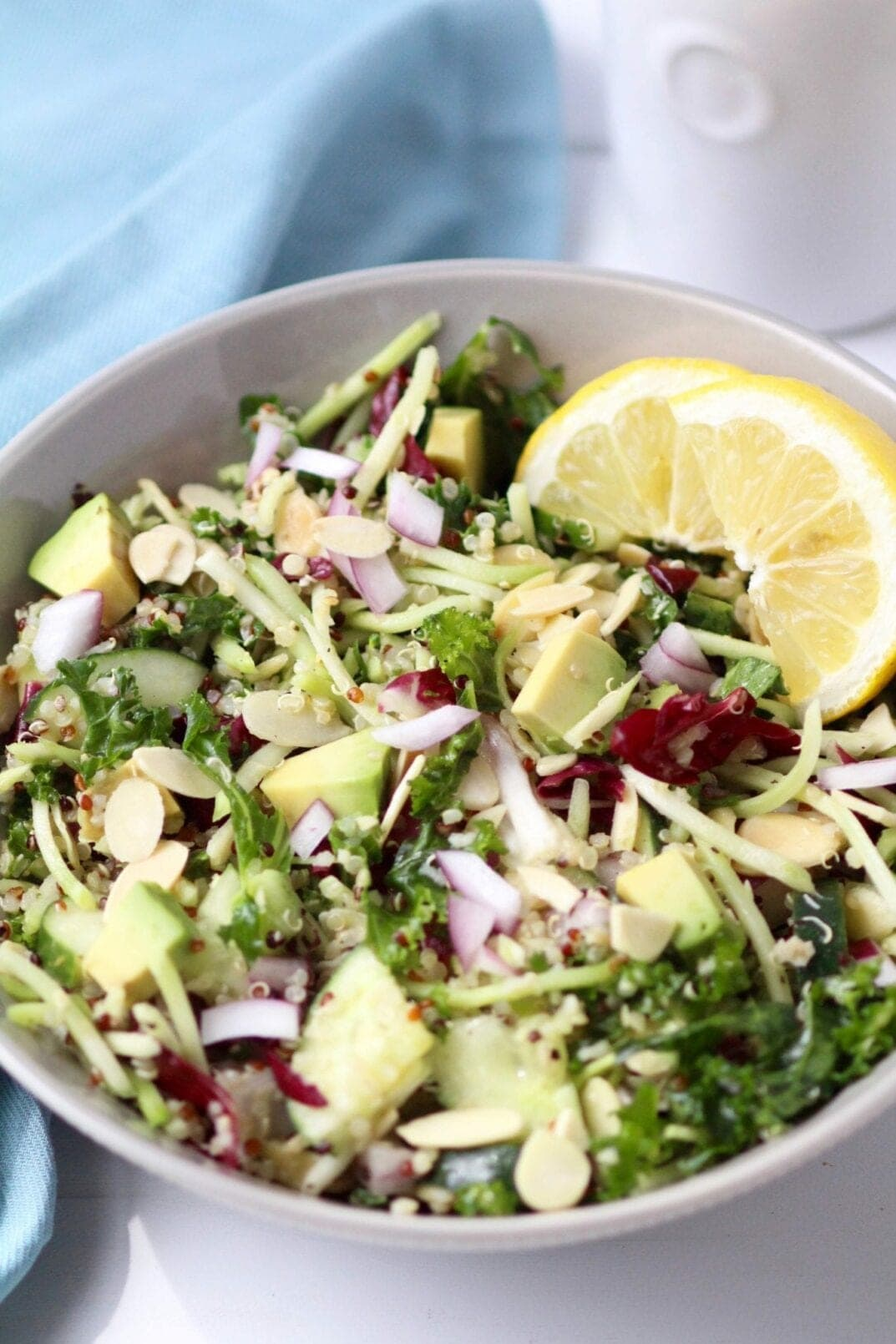 5-minute green goddess quinoa salad | www.nourishmovelove.com