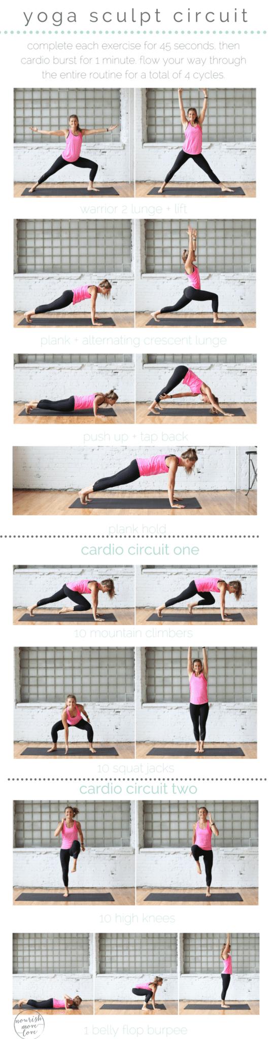 yoga sculpt circuit workout | www.nourishmovelove.com