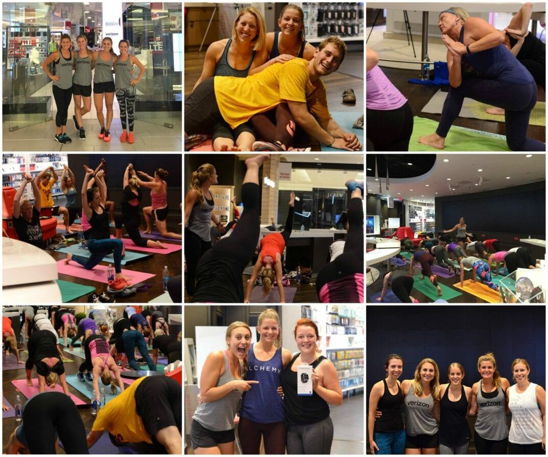 verizon yoga sculpt event recap
