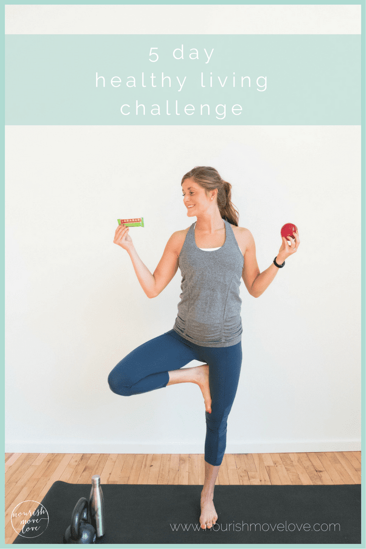 5 day healthy living challenge with LARABAR™ pin | www.nourishmovelove.com