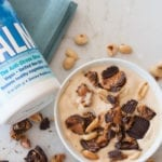 salted peanut butter cup banana ice cream with natural vitality {recipe video}