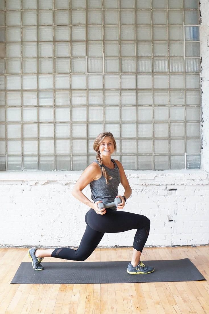 lunge with oblique twist | www.nourishmovelove.com