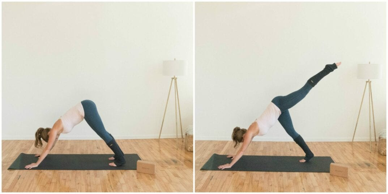Leg Lift Seat ~ Prenatal yoga flow best exercises