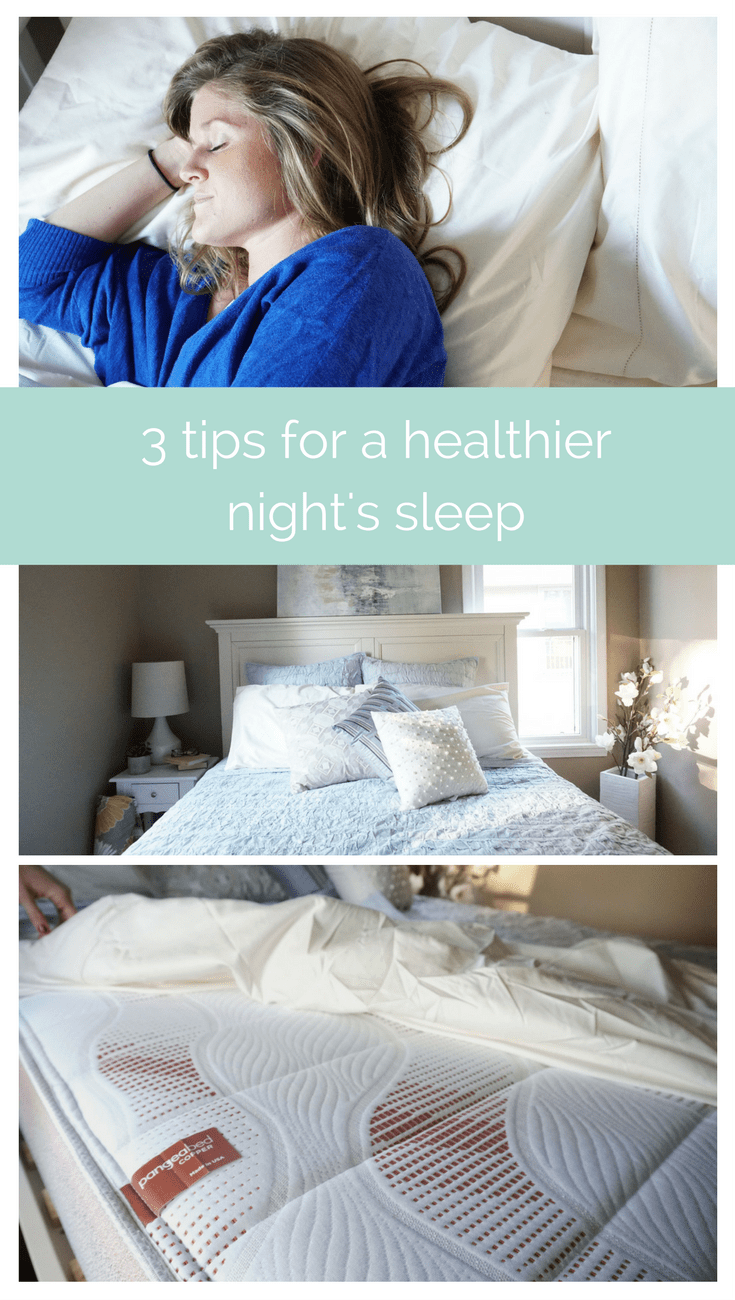 3 tips for a healthier night's sleep | www.nourishmovelove.com