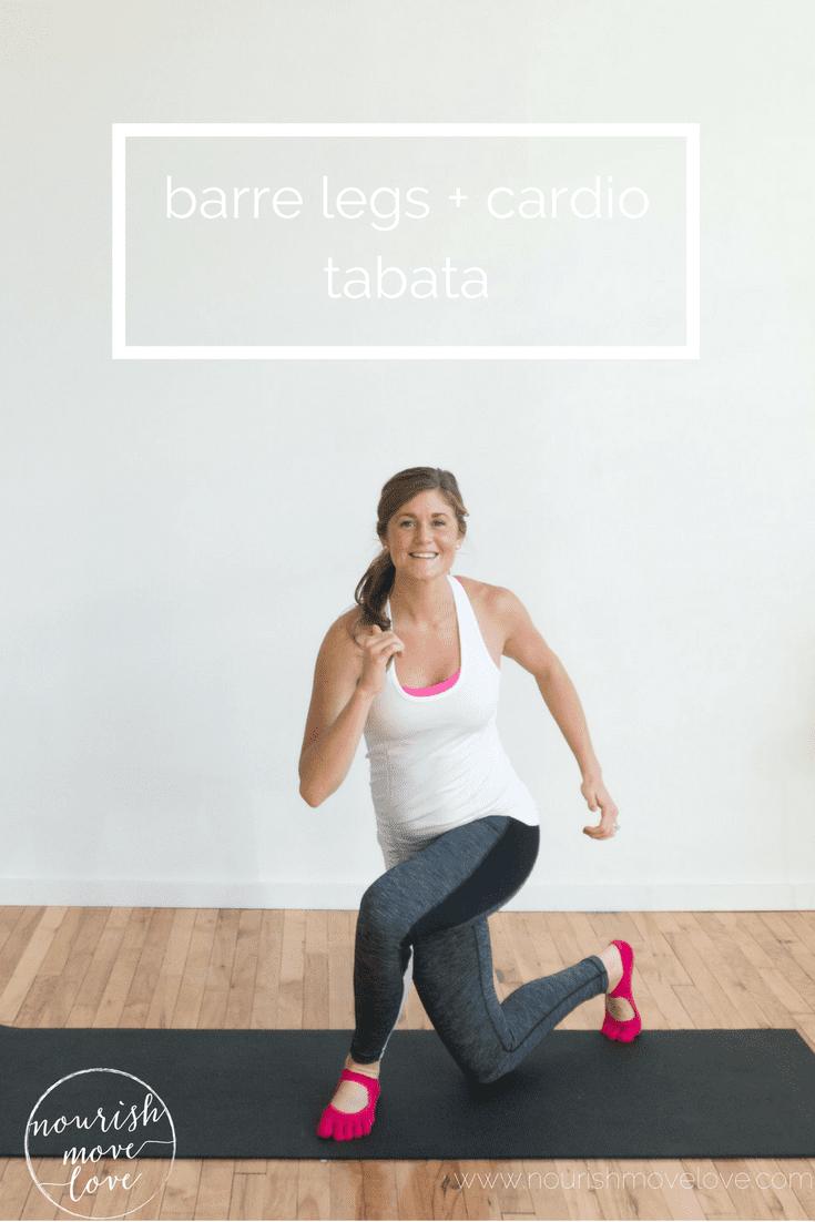 barre legs + cardio tabata curtsy lunge