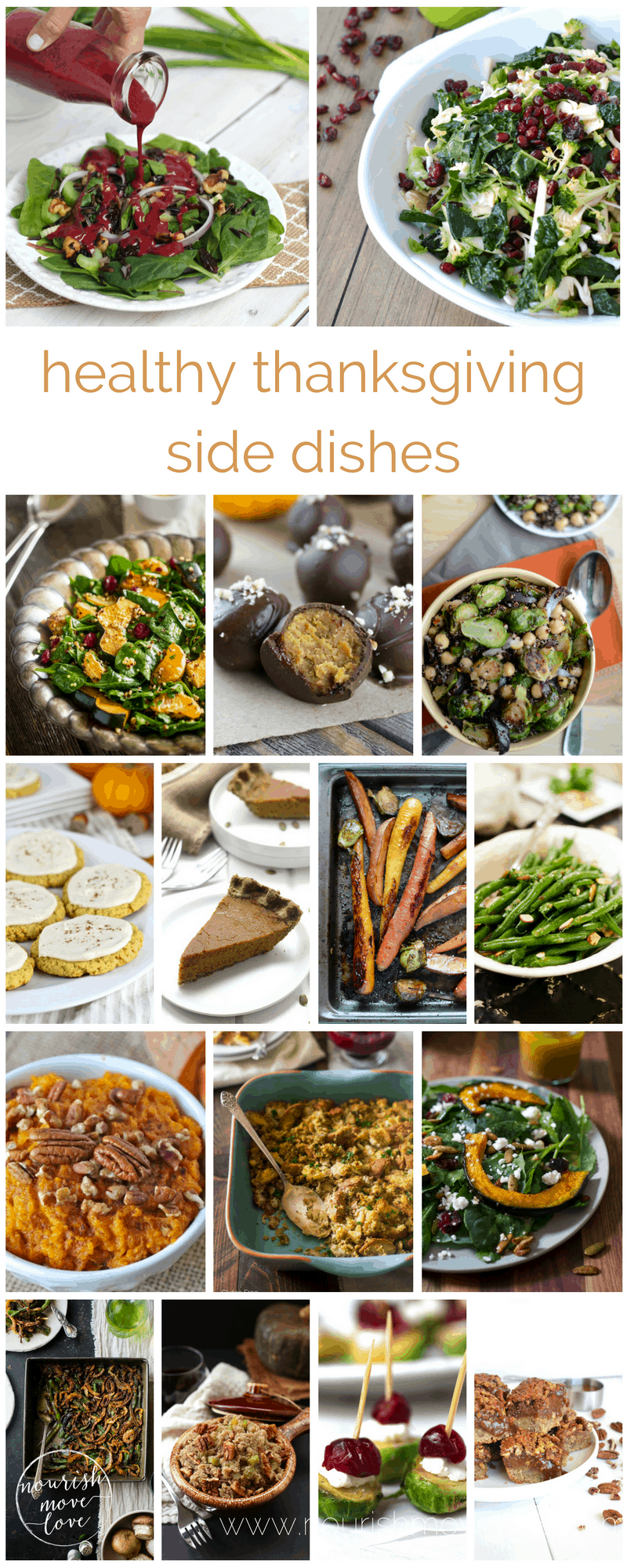 healthy thanksgiving side dishes + desserts | www.nourishmovelove.com