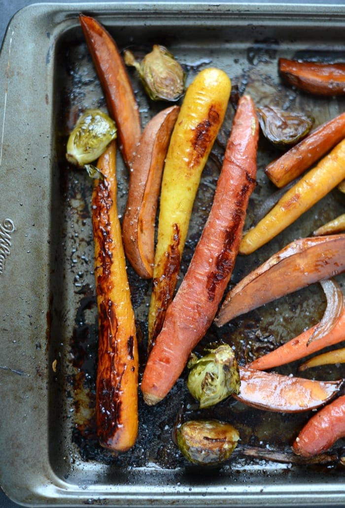 honey balsamic roasted veggies