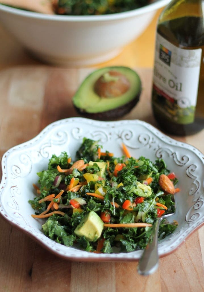 Kale Rainbow Detox Salad with Lemon Vinaigrette