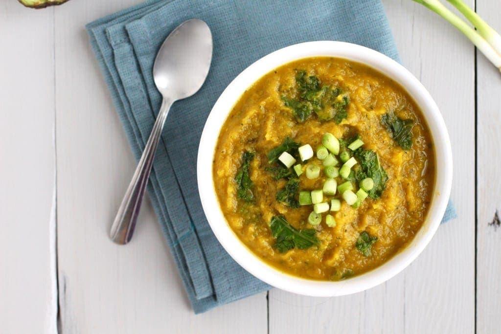 Detoxifying creamy butternut squash soup