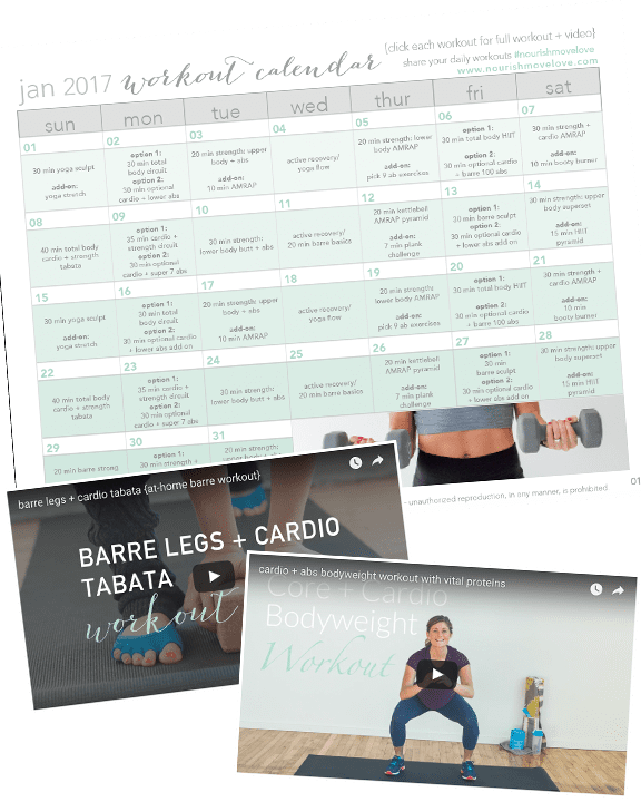 printable 30 day workout calendar promo
