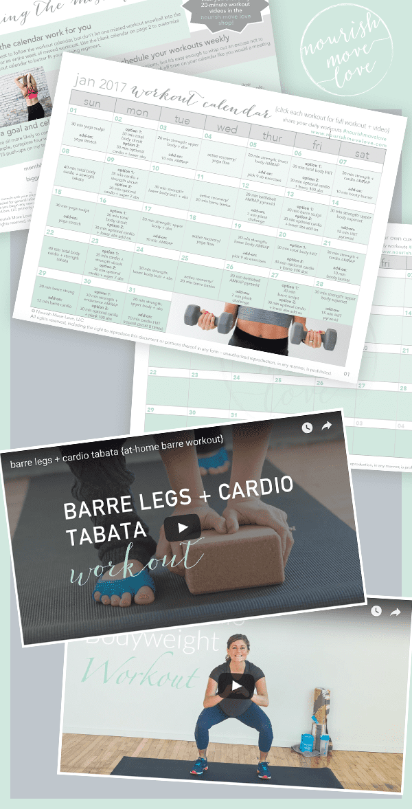 printable 30-day workout calendar promo