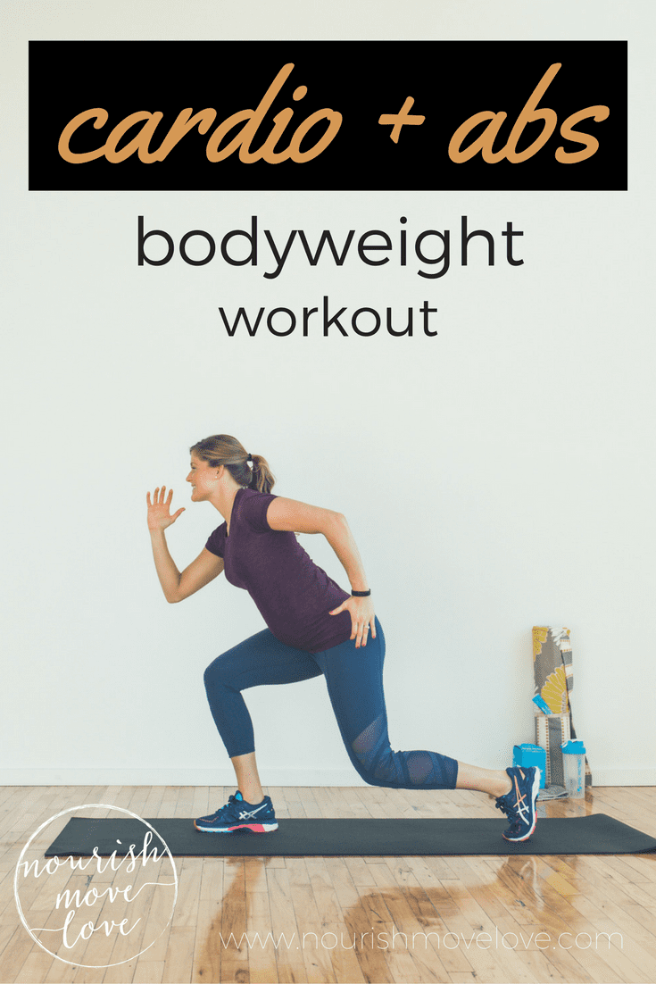 cardio + abs bodyweight workout | www.nourishmovelove.com