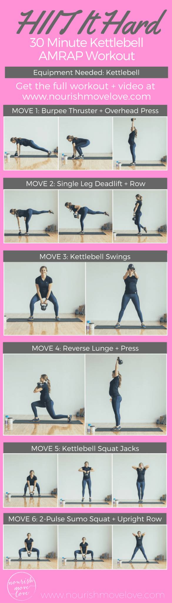 HIIT It Hard 30 Minute Kettlebell AMRAP Workout