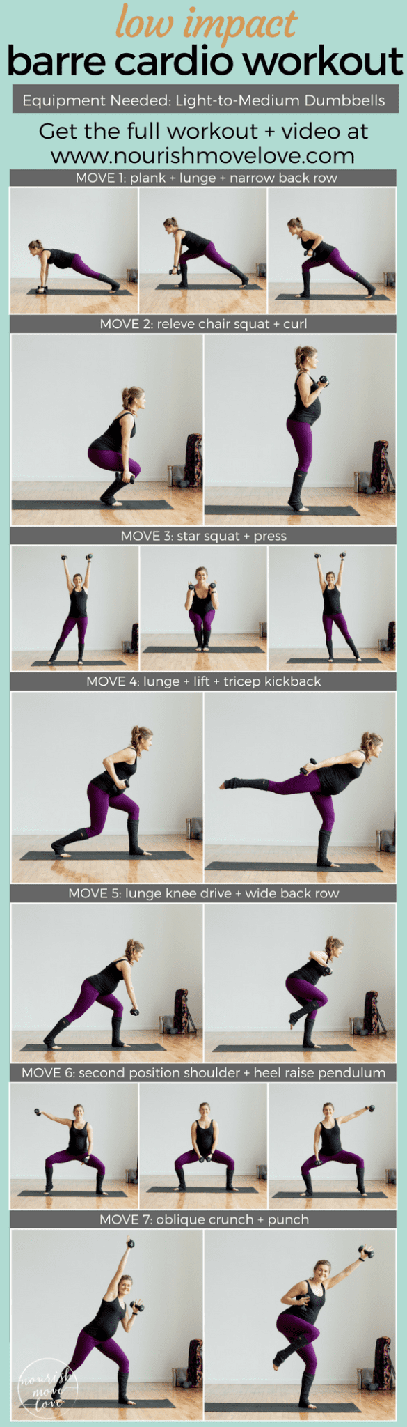 Low Impact Barre Cardio Workout