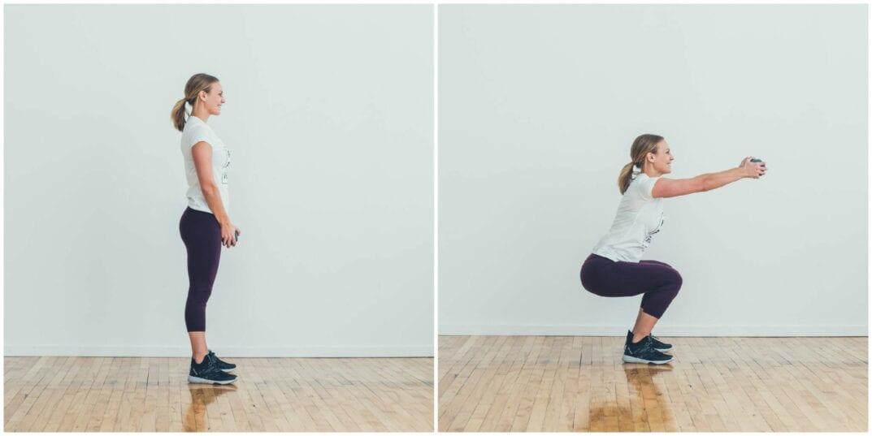 Squat + Front Shoulder Raise