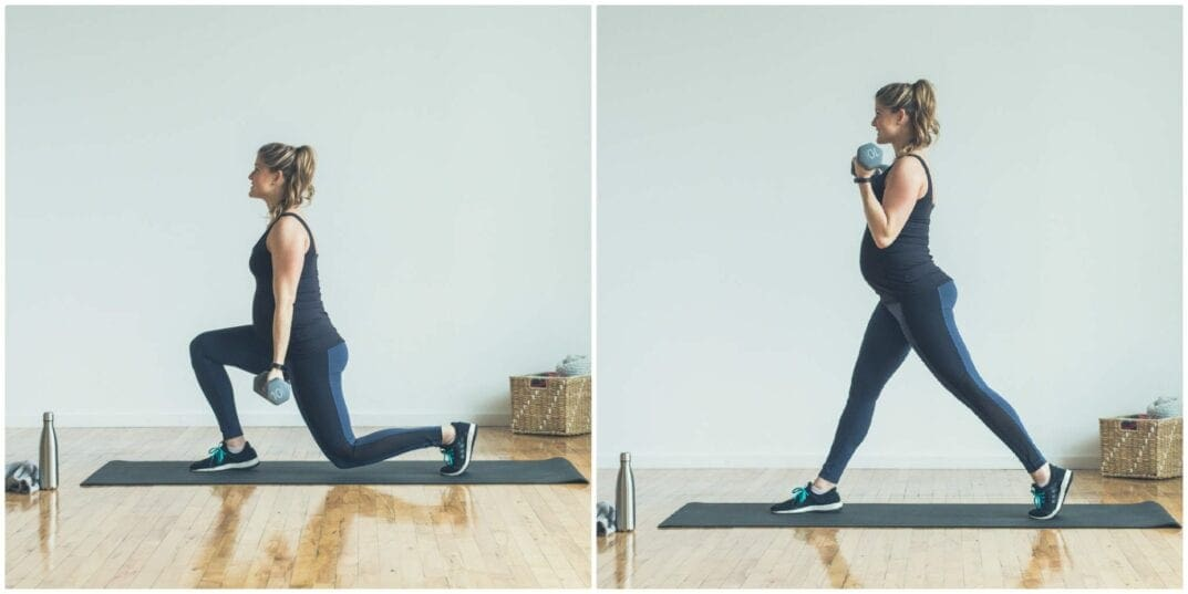 Reverse Lunge and Bicep Curl