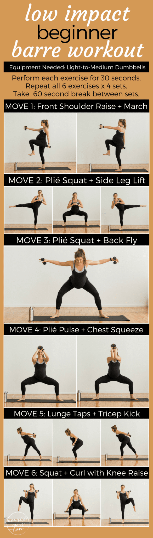 Low Impact Beginner Barre Workout | www.nourishmovelove.com