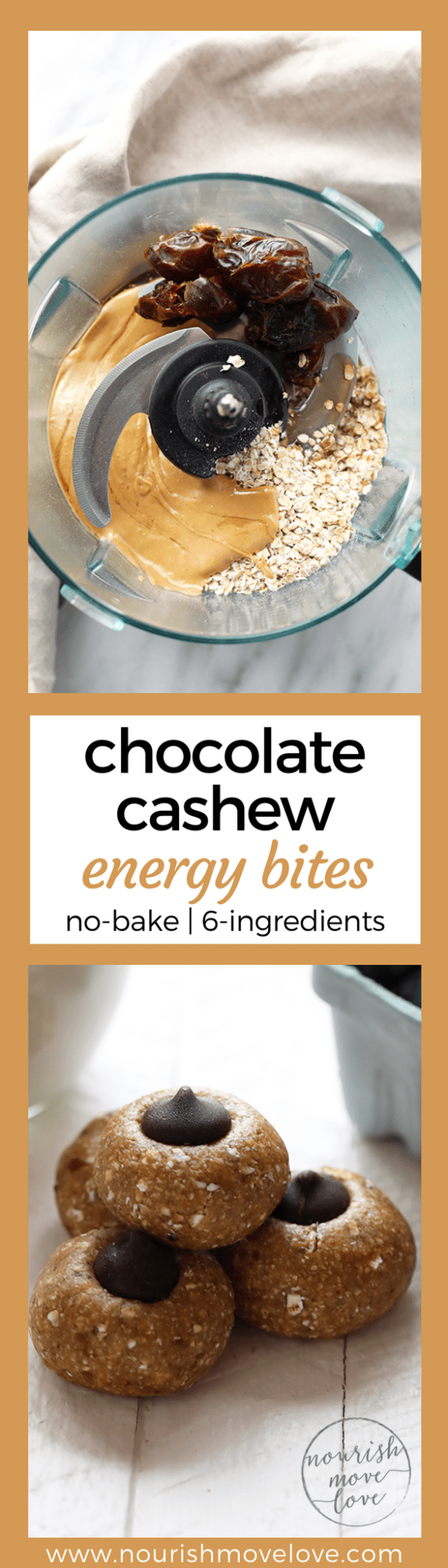 no-bake chocolate cashew lactation cookies | www.nourishmovelove.com