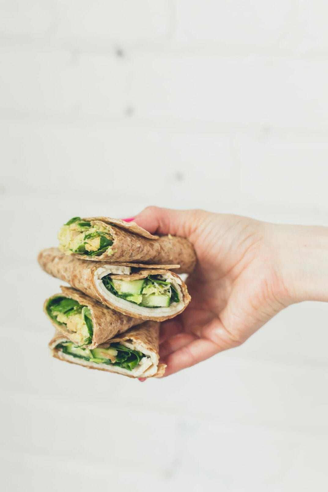 easy + healthy 1-minute lunch wraps