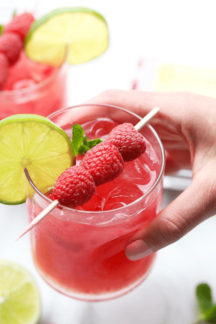 Raspberry Ginger Mojito