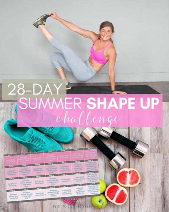 Summer Shape Up Challenge Sidebar Image