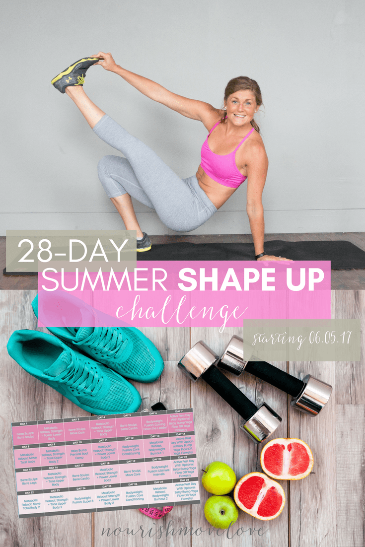 Summer Shape Up Challenge | www.nourishmovelove.com