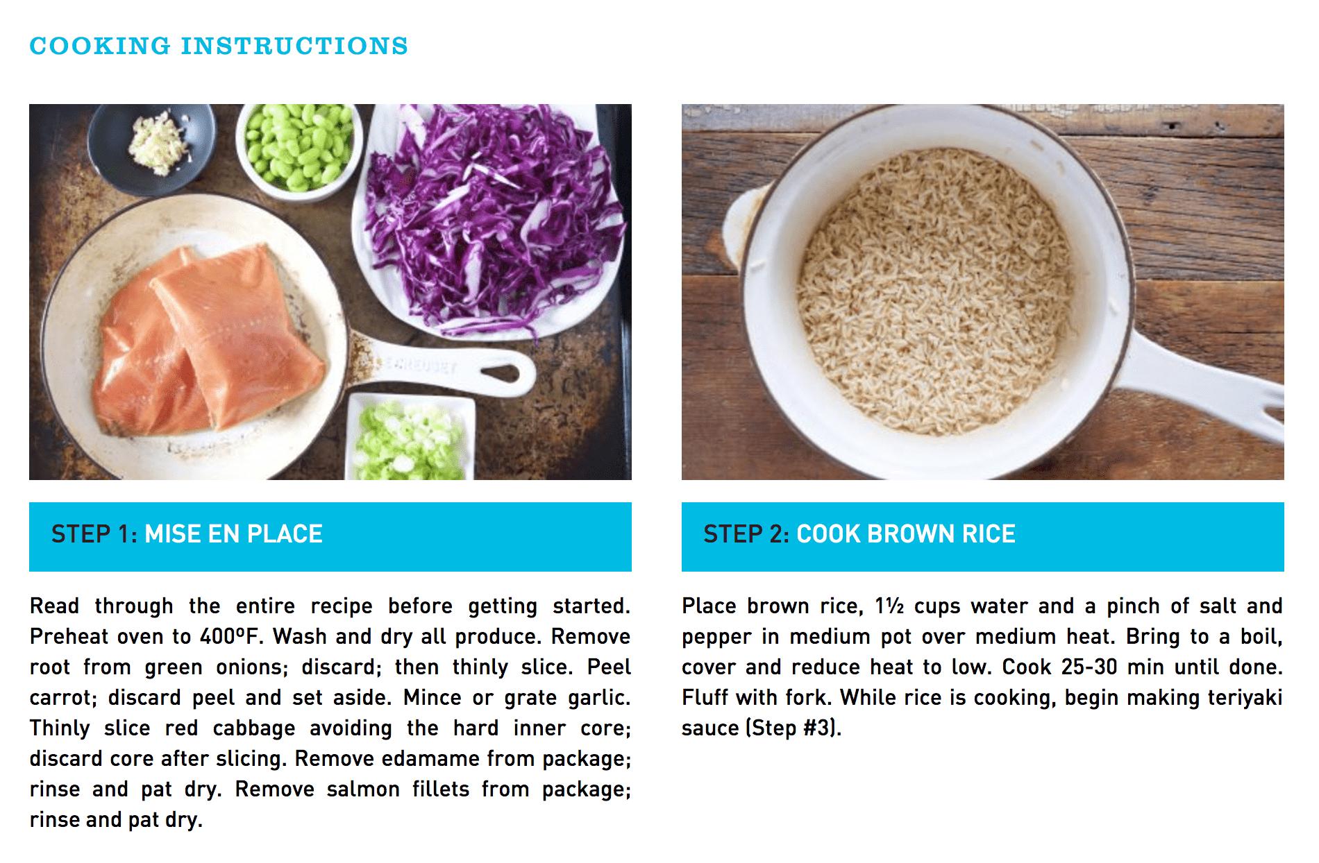 30 Minute Teriyaki Salmon Bowl Recipe Card
