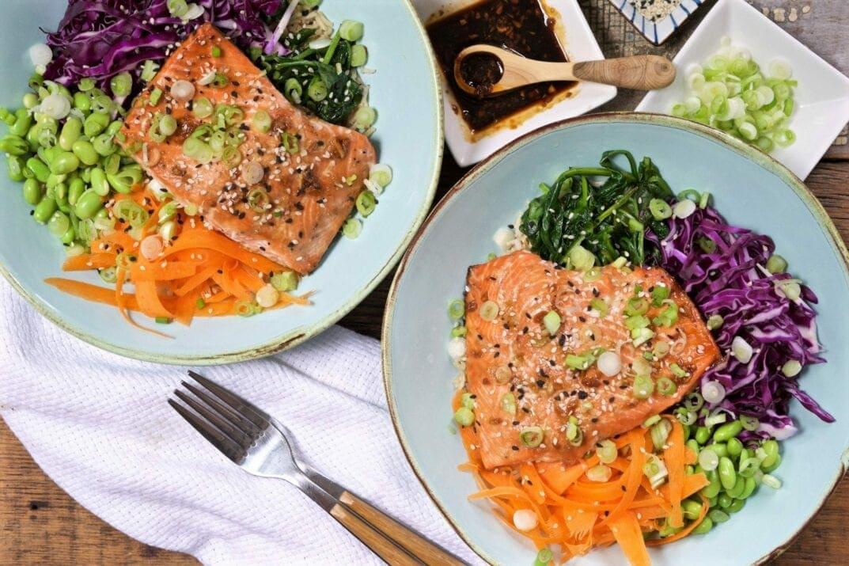 Teriyaki Salmon Bowl Feature