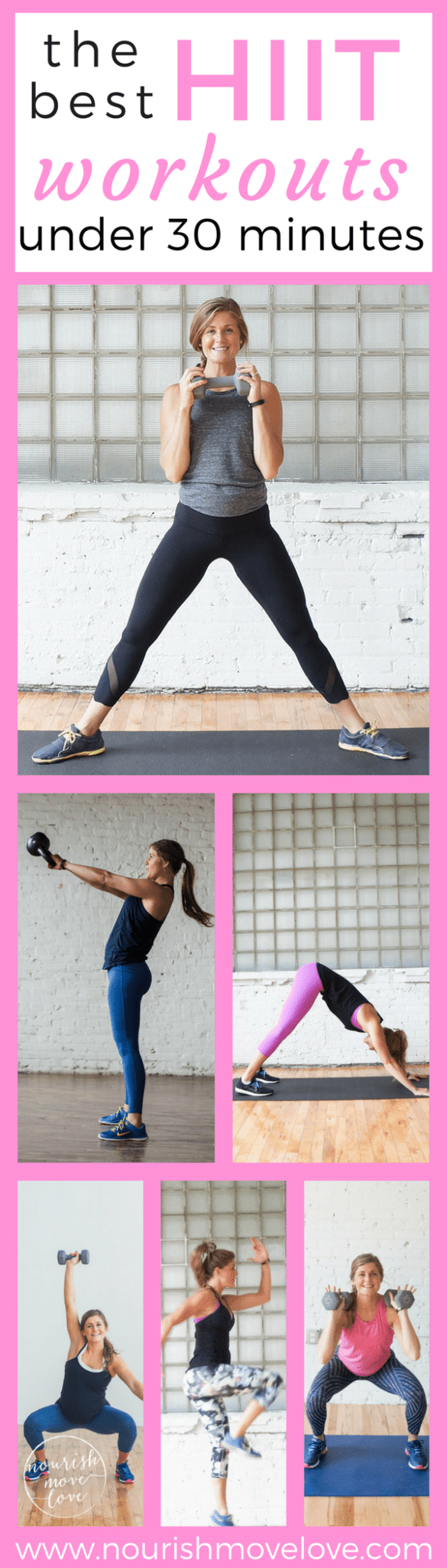 The Best HIIT Workouts Under 30 Minutes | www.nourishmovelove.com