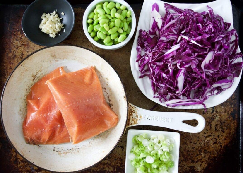 Teriyaki Salmon Bowl Ingredients