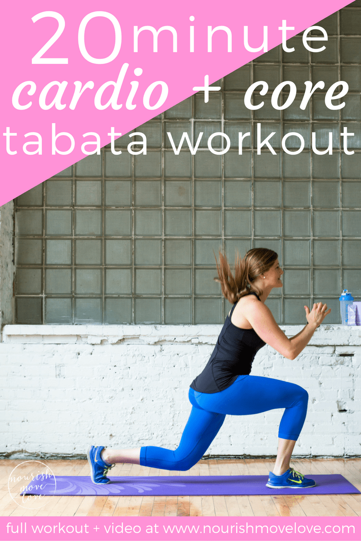 20-Minute Cardio and Core Tabata Workout | www.nourishmovelove.com