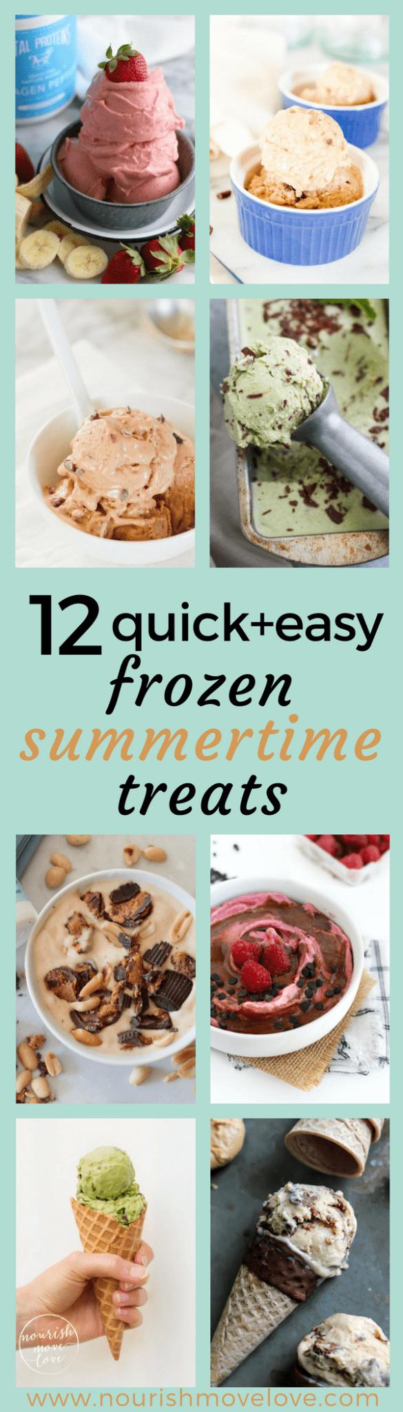 12 quick + easy frozen summertime desserts | www.nourishmovelove.com