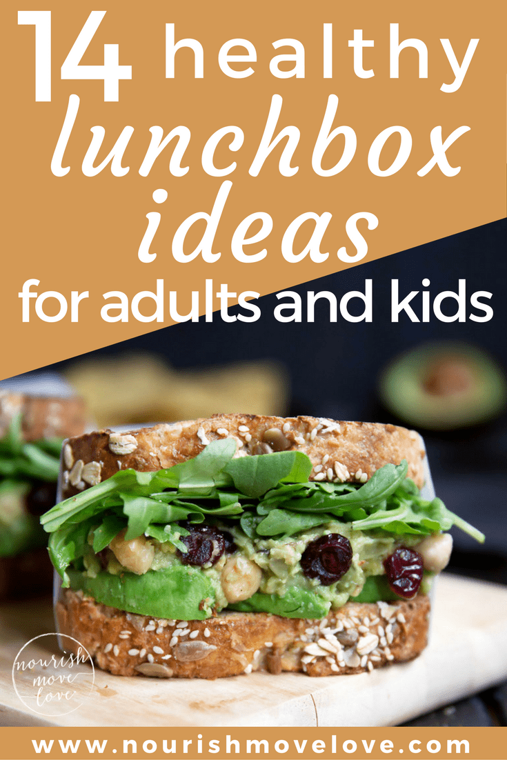 14 Healthy Lunch Box Ideas for Adults + Kids | www.nourishmovelove.com