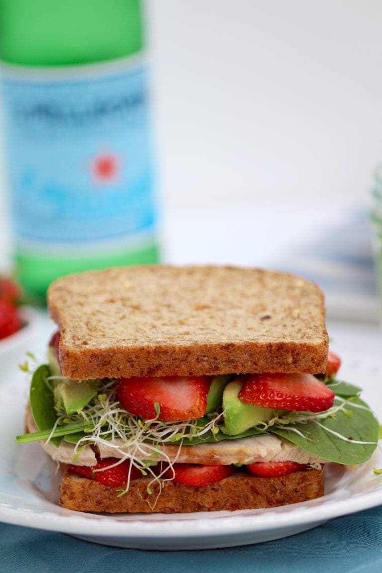 Strawberry Spinach Sandwich or Salad